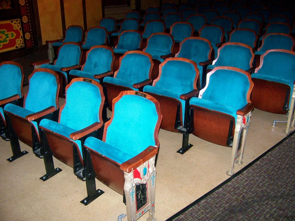Historical seats, Redford Theatre