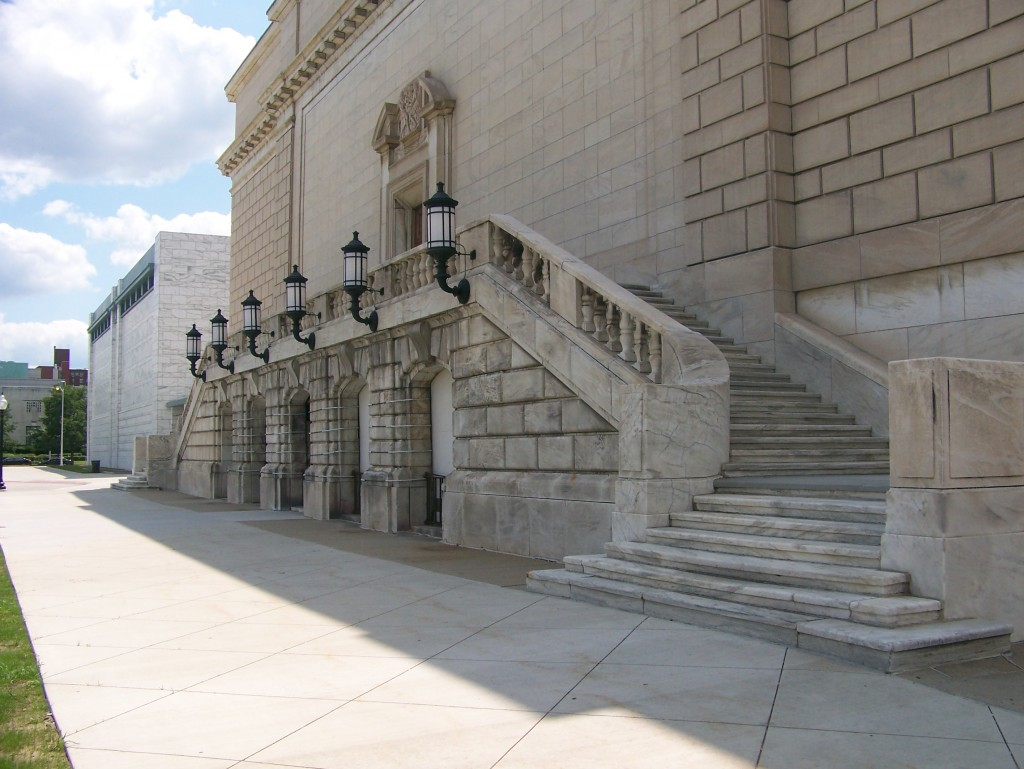 Detroit Film Theatre auditorium, back steps (August 2009)