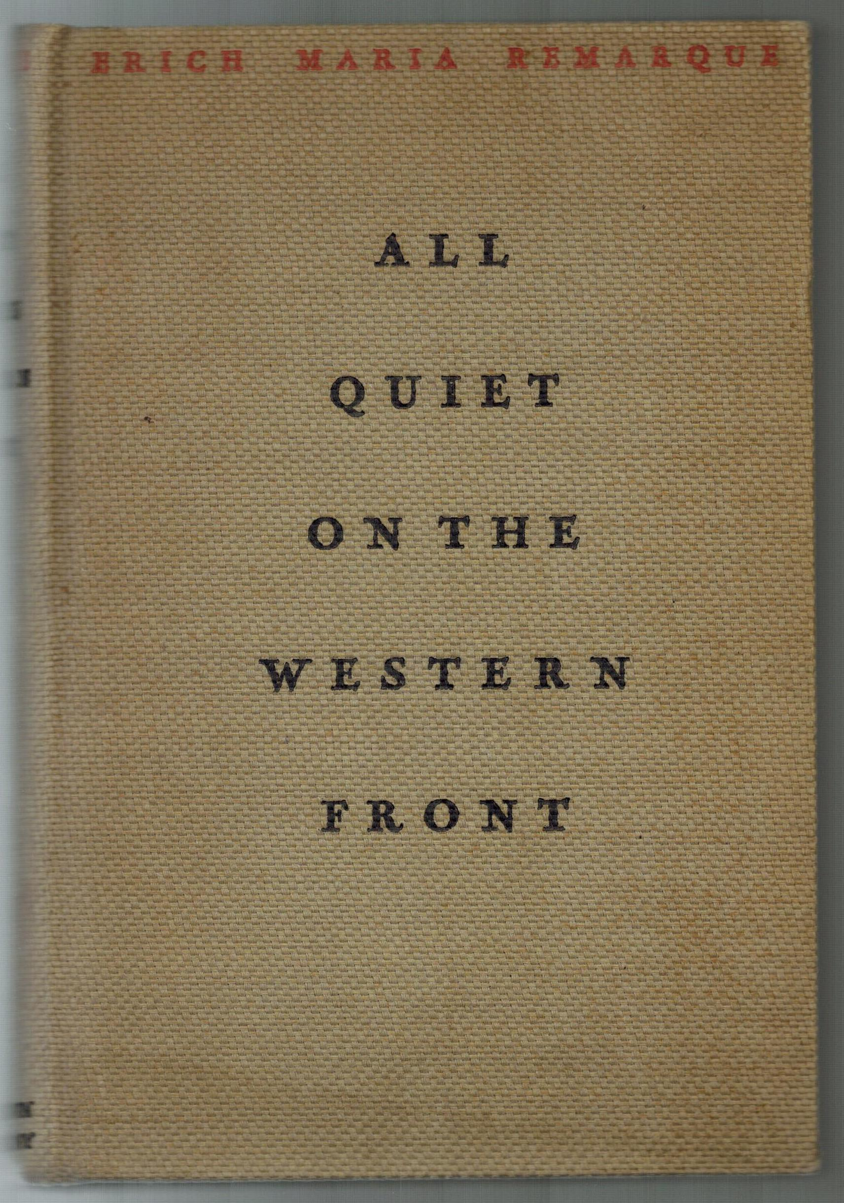 an analysis of all quiet on the western front a book by erich maria remarque Buy all quiet on the western front from dymocks online bookstore find latest  reader  front rating 0 write a review  books by the same author noapte  la  erich maria remarque, sarah wimperis, tony evans, erich maria remarque.