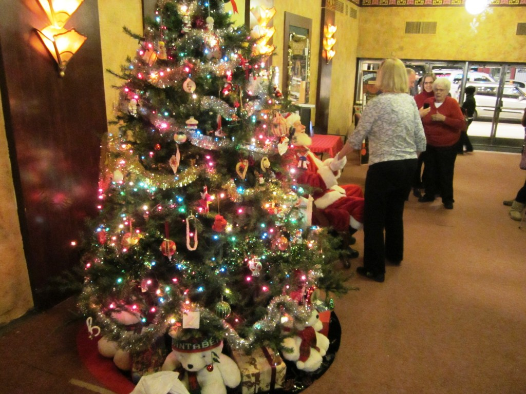 Redford Theatre, Santa Claus in Front Lobby, November 30, 2012