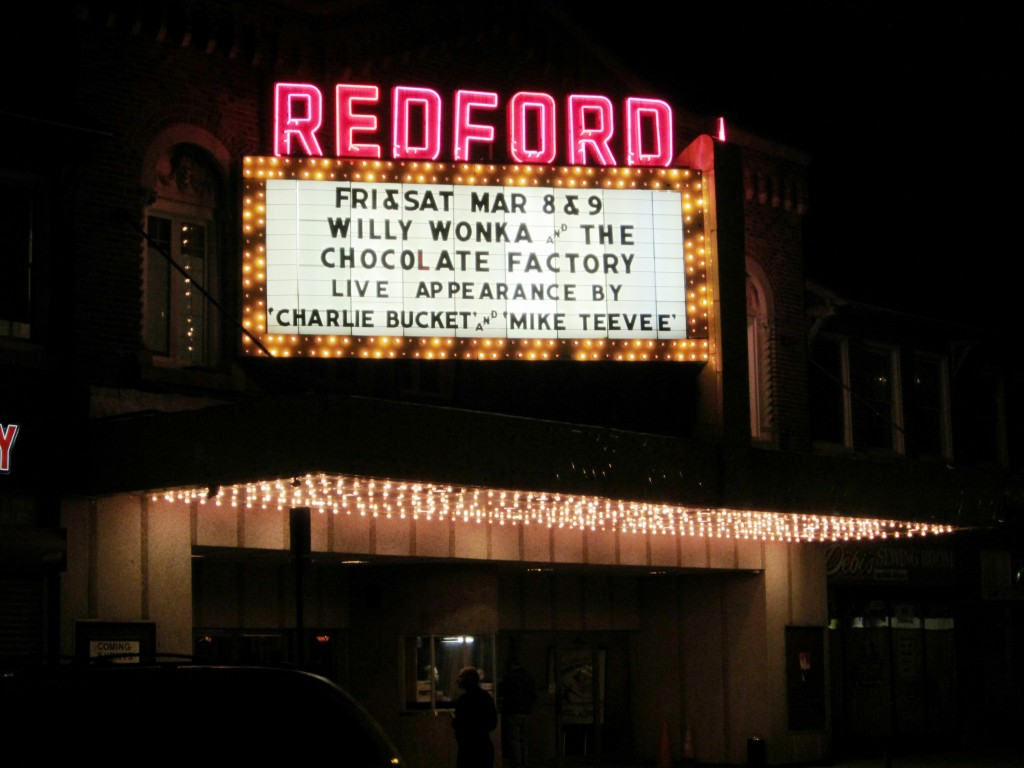 Redford Theatre Marquee, March 8, 2013