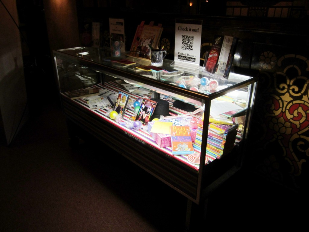 Redford Theatre, Concession Lobby, Display Case, March 8, 2013