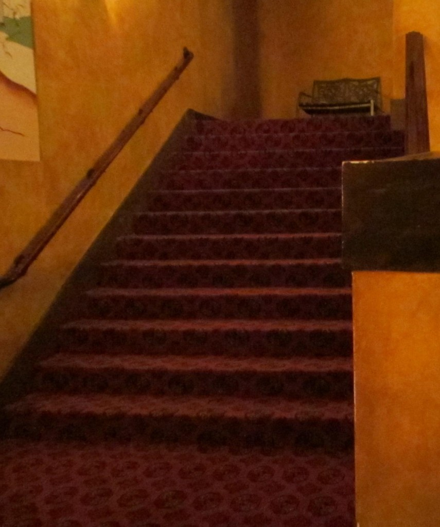 Redford Theatre, Steps to Balcony, July 13, 2013