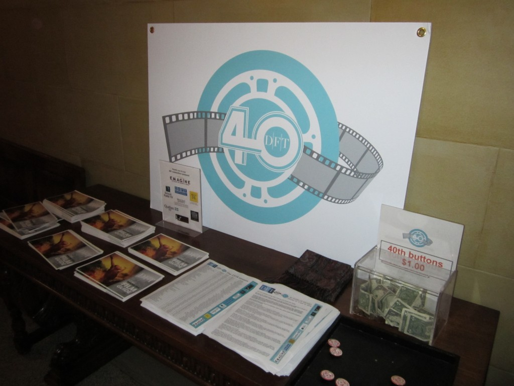 DFT Publicity Table, Inner Lobby, January 12, 2014